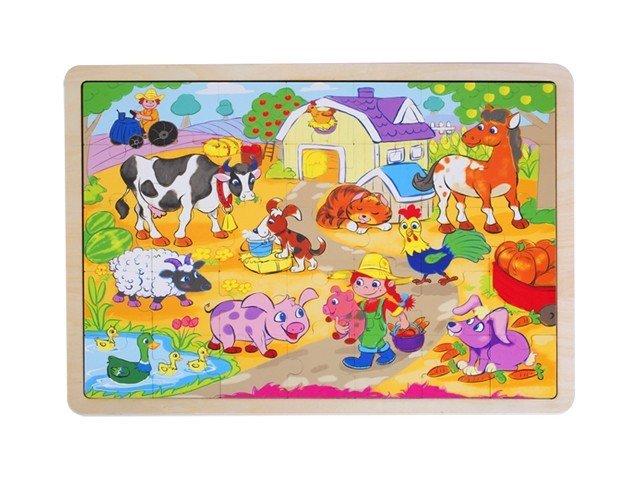 Brimarex Puzzle drewniane - Wieś