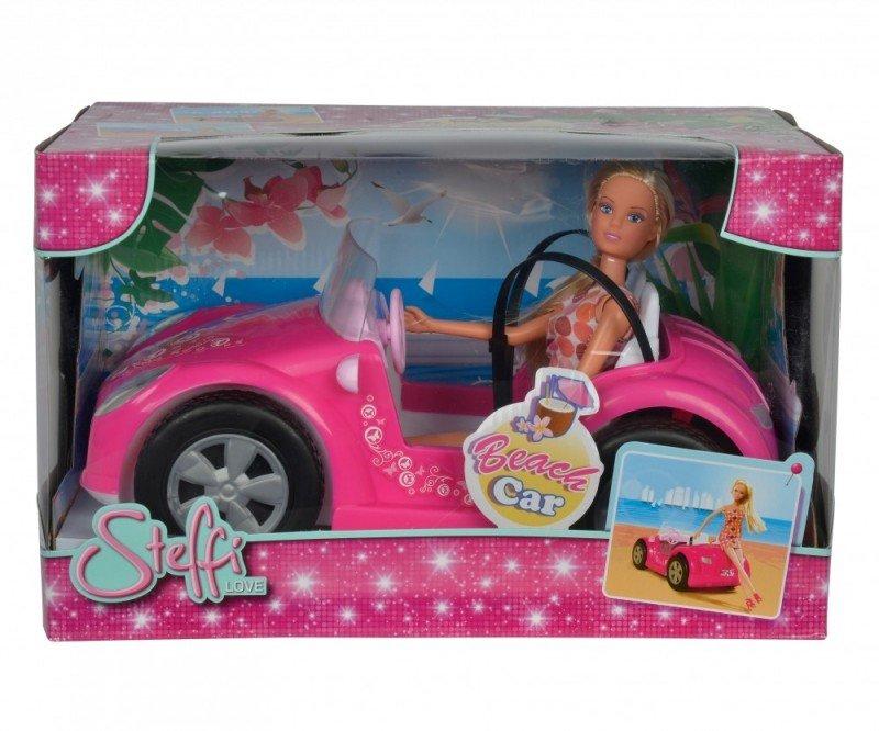 Lalka Steffi w letnim samochodzie