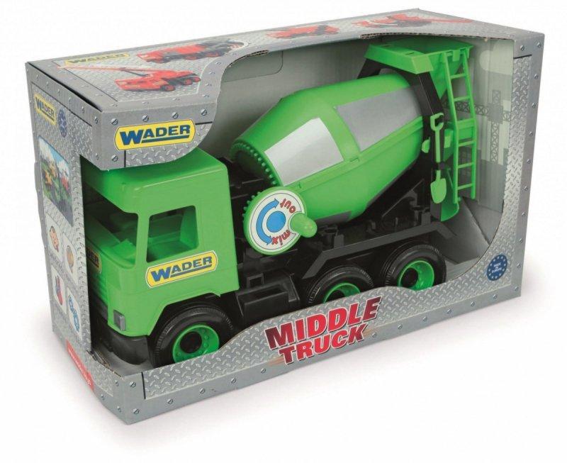 Wader Betoniarka zielona Middle Truck w kartonie