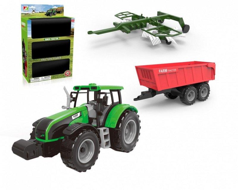 ASKATO Traktor z dwoma przyczepami
