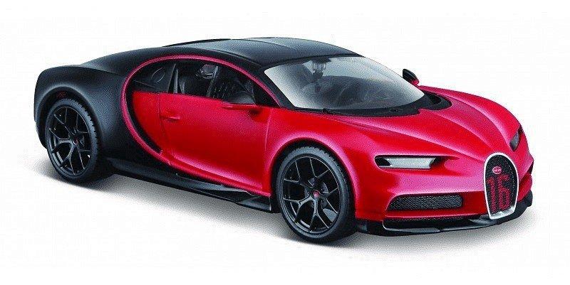 Model kompozytowy Bugatti Chiron sport czarno-czerwony