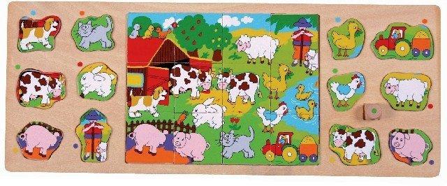 Brimarex Puzzle TOP BRIGHT 3 w 1 - Na wsi