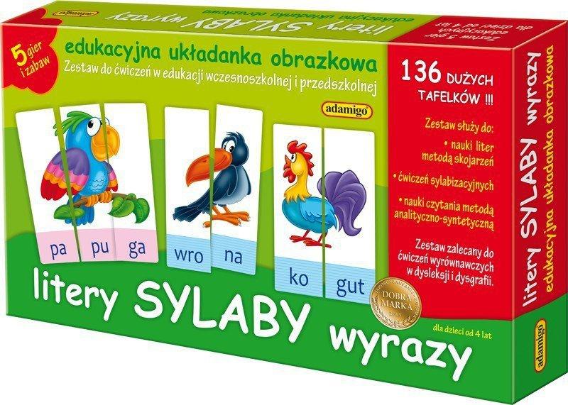 Adamigo Zestaw Edukacyjny Litery Sylaby Wyrazy