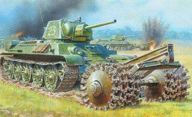 Zvezda ZVEZDA T-34/76 Tank With Mine Roller