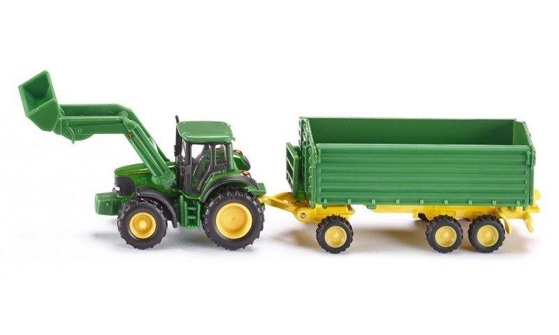 Siku Traktor John Deere z Przyczepą i Ładowarką