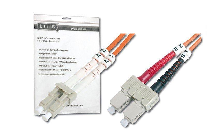 Patch cord światłowodowy FO MM 50/125 OM2 LC-SC 1m