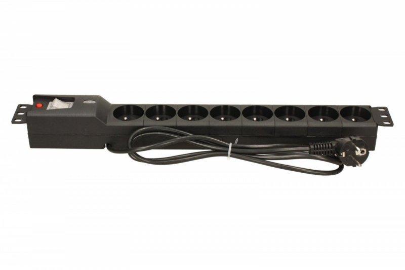 Listwa przeciwprzepięciowa LXARM 810, 3L, PDU, 1,5m, czarna