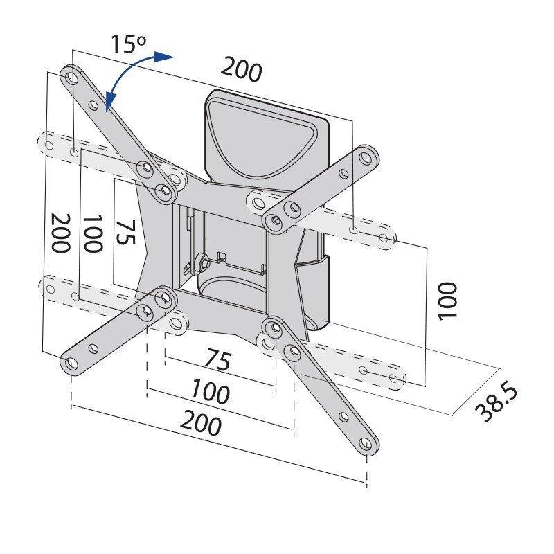 Uchwyt TV TB-152E do telewizora do 42 20kg max VESA 200x200