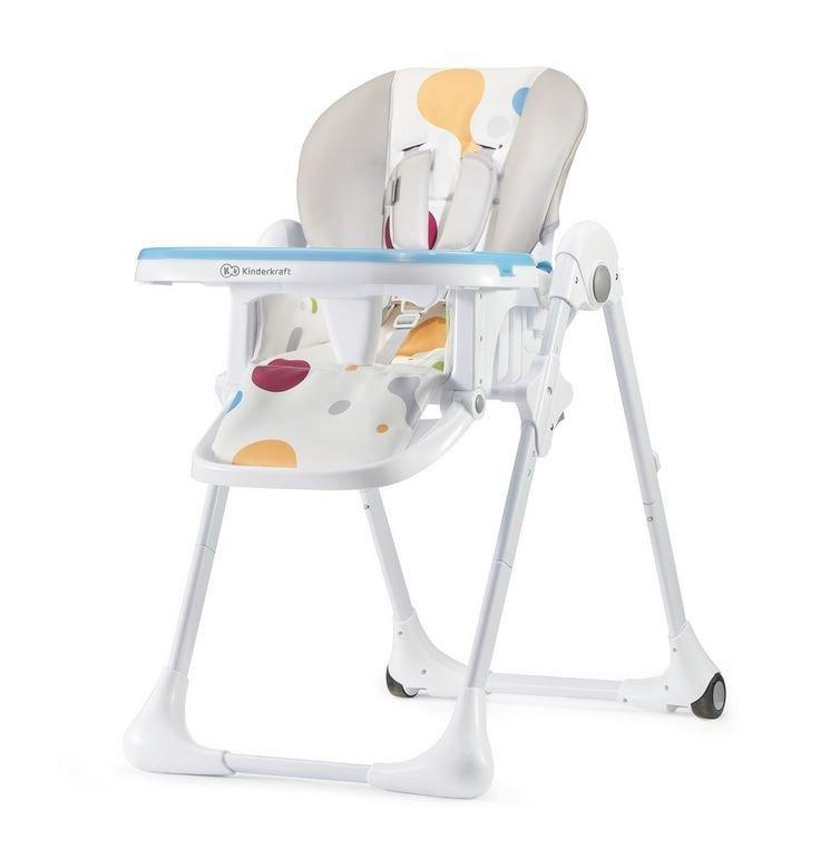 Krzesełko Yummy do karmienia + tacka multicolor