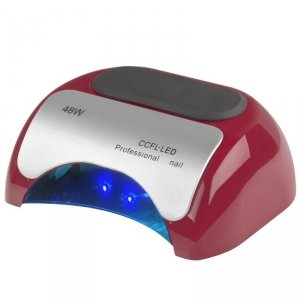 LAMPA PROFESSIONAL 2W1 UV LED+CCFL 48W TIMER+SENSOR CZERWONA