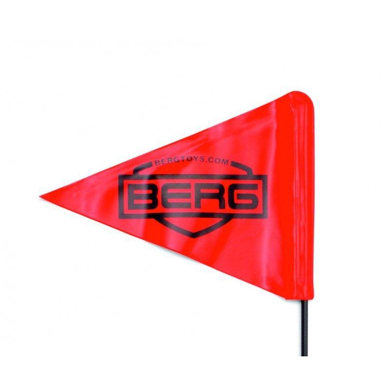 BERG Flaga Bezpieczeństwa do Gokartów Buddy z Masztem Czerwona