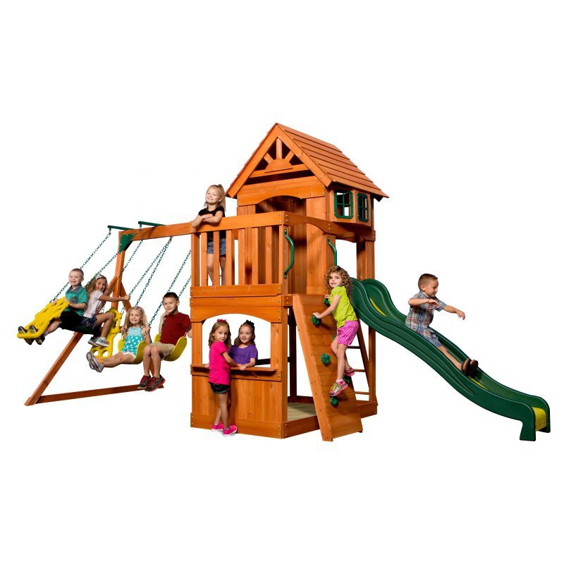 Ogromny Drewniany Plac zabaw Atlantic Backyard Discovery + Stolik gratis!