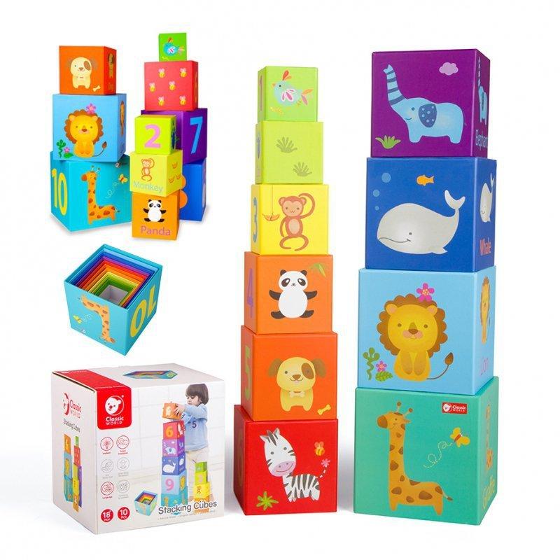 CLASSIC WORLD Magic Box Klocki Układanka Wieża Pudełko Zabawka Edukacyjna