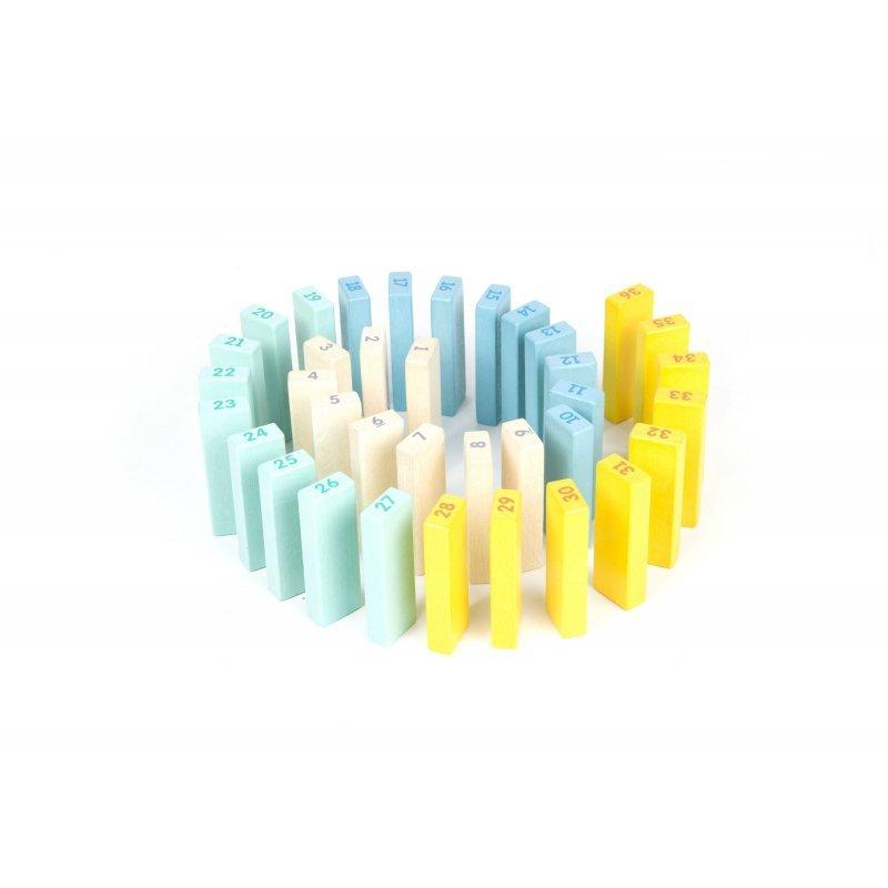 CLASSIC WORLD Drewniana Kolorowa Gra Wieża Deluxe Jenga