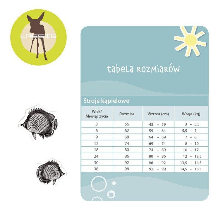 Spodenki z pieluszką Tropical, 6-12m-cy, UV 50+, Lassig