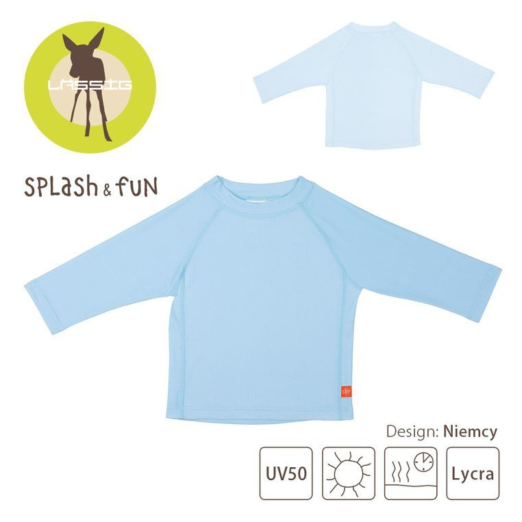 Lassig Koszulka do pływania z długim rękawem Light blue UV 50+