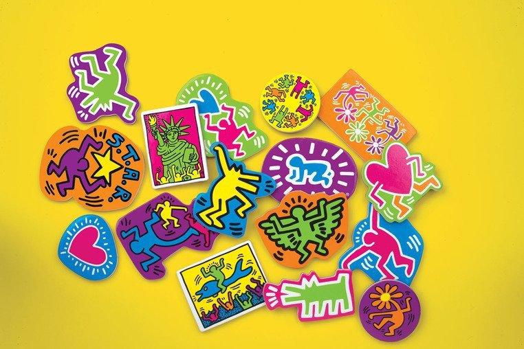 Zestaw drewnianych magnesów Keith Haring  www.tuliki.pl