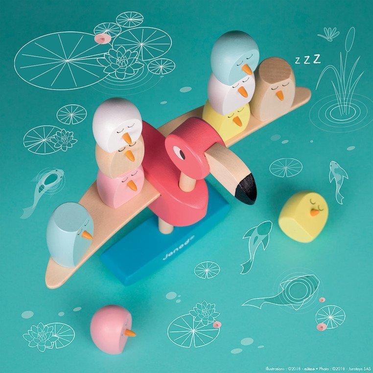 gra balansowa flamingi www.tuliki.pl