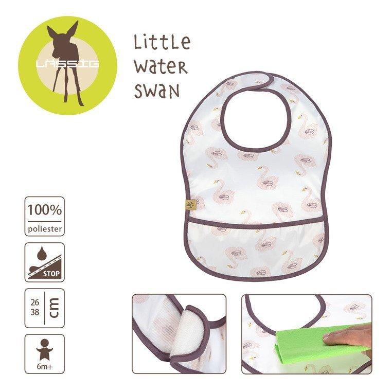 Lassig Lekki śliniak wodoodporny 6m+ Little Water Łabędź