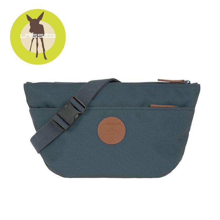 Lassig Green Label Torba nerka dla mam Bum Bag Adventure Petrol