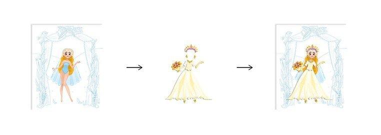 Zeszyt - kołonotatnik kreatywny Pokaz mody Ślub 5+, Janod