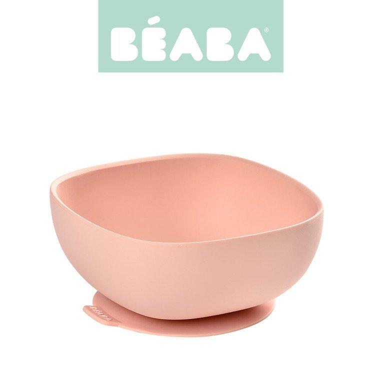 Beaba Silikonowa miseczka z przyssawką pink