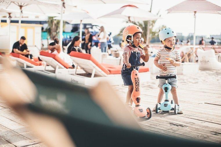 SCOOTANDRIDE Kask XXS-S dla dzieci 1-5 lat Blueberry