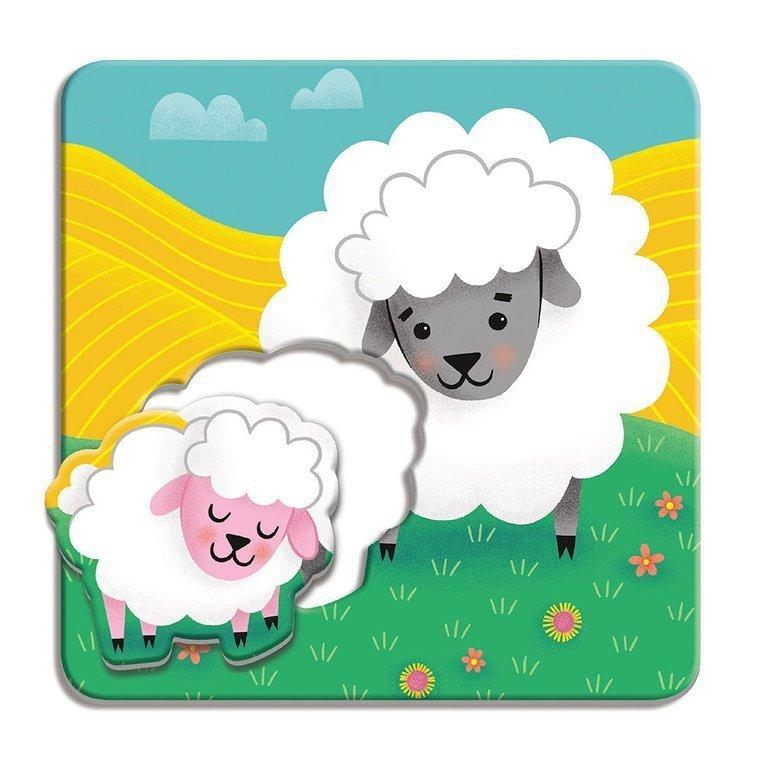 Mudpuppy Pierwsze puzzle I Love You Rodzice i dzieci Farma 1-3 lata