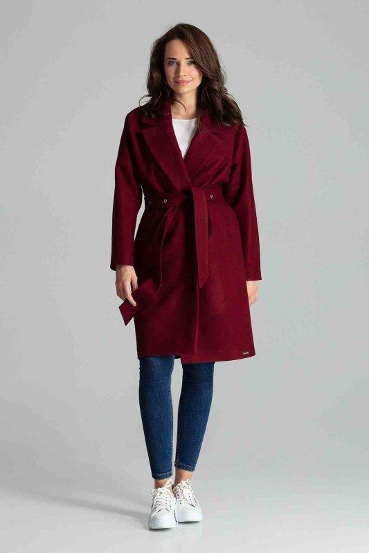 Płaszcz L054 Bordo S-XXXL