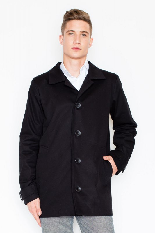 Płaszcz V028 Czarny S