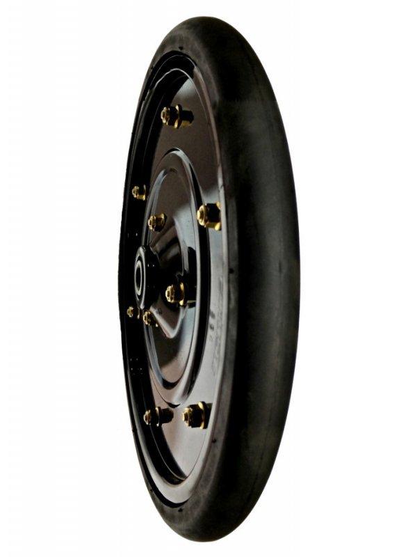 1x12 Smooth Crown Steel Wheel 40mm Met
