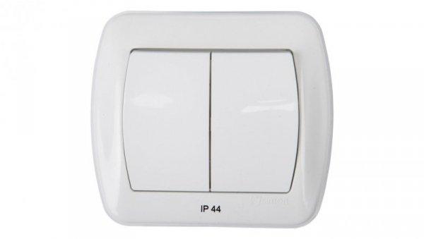 Simon Akord Łącznik bryzgoszczelny świecznikowy IP44 biały AW5BL/11