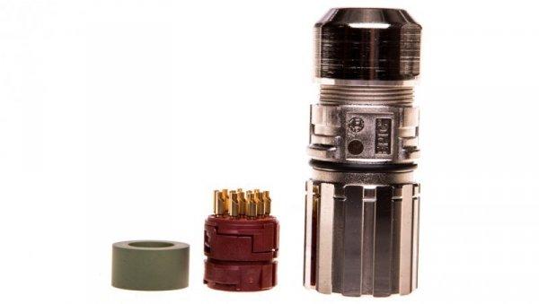 Zestaw kompletny 12 stykowy żeński /obudowa wtyczki + wkład/ EPIC KIT M23 D6 12-POL FEMALE 75009702