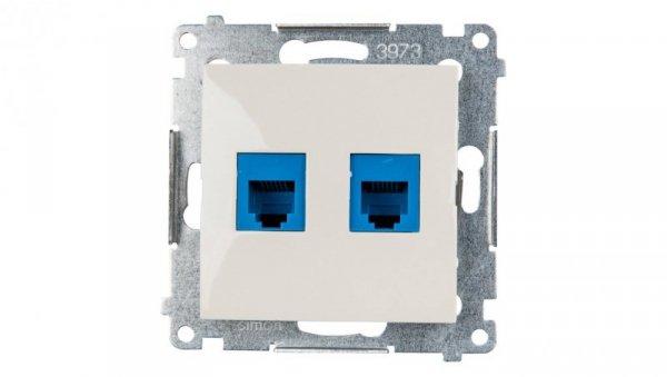 Simon 54 Gniazdo telefoniczne podwójne 2xRJ12 kremowe DT2.01/41