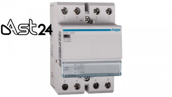 Stycznik modułowy 63A 4Z 0R 230V AC ESC463