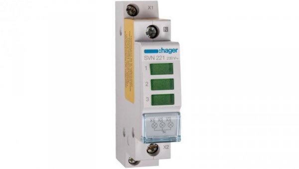 Lampka modułowa 3-fazowa zielona 230-400V AC SVN221