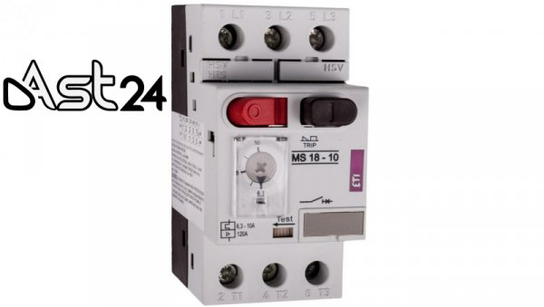 Wyłącznik silnikowy 3P 4kW 6,3-10A MS18 004600349
