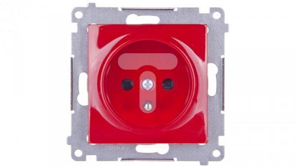 Simon 54 Gniazdo pojedyncze z/u 16A IP20 czerwone DGZ1Z.01/22