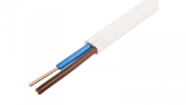 Przewód YDYp 2x1 biały 450/750V /100m/