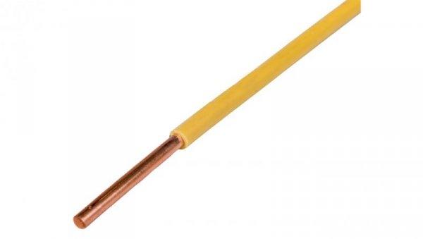 Przewód instalacyjny H07V-U (DY) 1,5 żółto-zielony /100m/