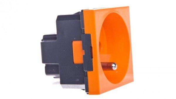 MOSAIC Gniazdo pojedyncze z/u 16A antybakteryjne pomarańczowe 077117