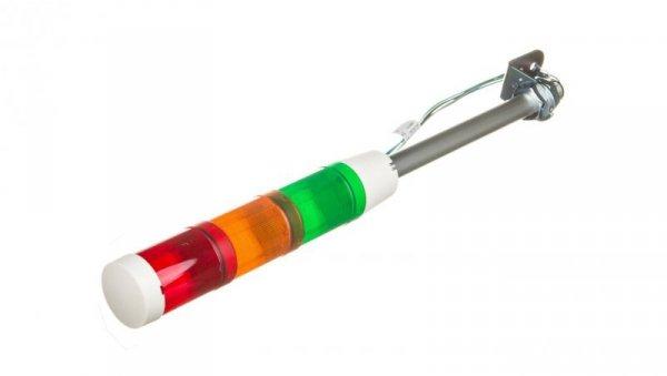 Kolumna świetlna czerwona/pomarańczowa/zielona 24V AC/DC światło ciągłe XVMB1RAGS