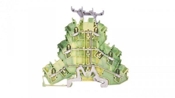 Złączka szynowa 3-piętrowa PE 2,5mm2 z podstawą oznacznika żółto-zielona 2002-3237 TOPJOBS