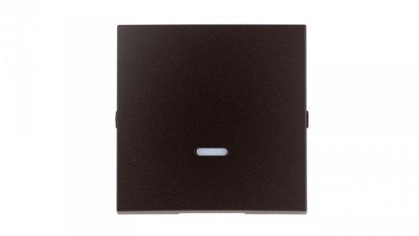 Simon 54 Klawisz pojedynczy z oczkiem do łączników/przycisków podświetlanych brąz mat DKW1L/46