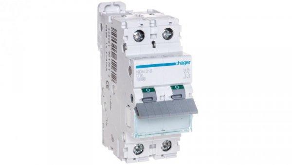 Wyłącznik nadprądowy 2P D 16A 10kA AC MCB NDN216