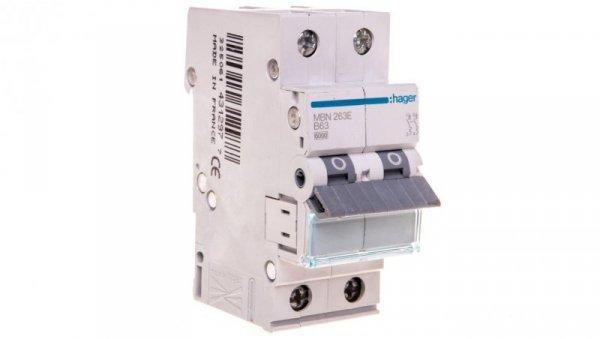 Wyłącznik nadprądowy 2P B 63A 6kA AC MBN263E