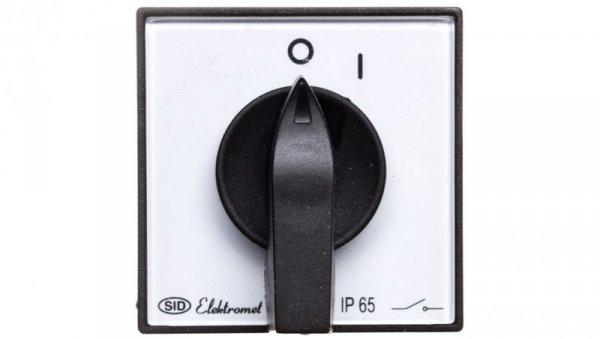 Łącznik krzywkowy 0-1 1P 12A IP65 Łuk E12-52 z płytką 921252