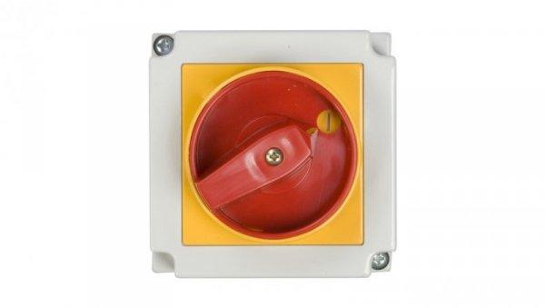 Łącznik krzywkowy awaryjny 0-1 3P 25A w obudowie 4G25-10-PK S6 63-241673-031