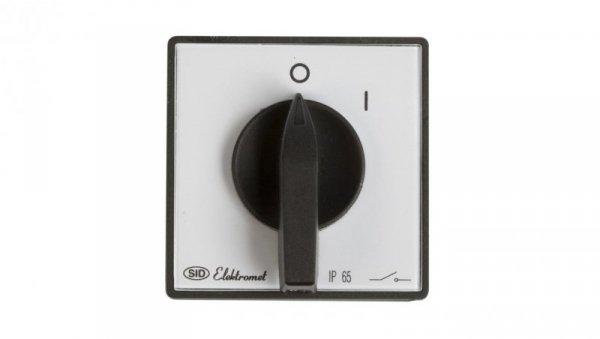Łącznik krzywkowy 0-1 3P 25A IP65 Łuk 25-12 z płytką 922503