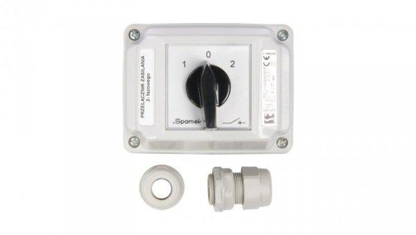 Łącznik krzywkowy 1-0-2 2P 16A w obudowie ŁK16R-2.8338OB2